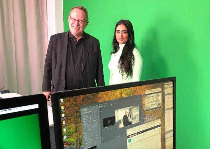 Peter Berg och Faiza Khan i studion hos Eduhouse - Nästa gång blir det månadsuppdatering!