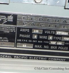 electrical circuit breakers manufactured by the federal pacific electric fpe company and stab lok models in particular have the potential to fail to  [ 1024 x 768 Pixel ]