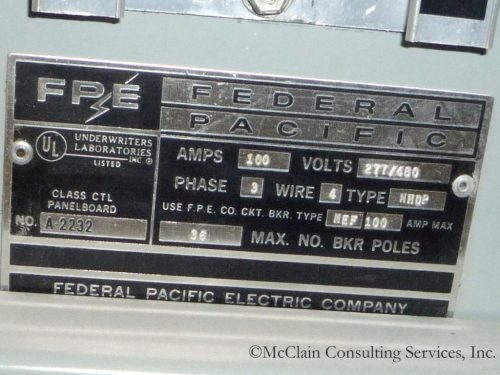 small resolution of electrical circuit breakers manufactured by the federal pacific electric fpe company and stab lok models in particular have the potential to fail to