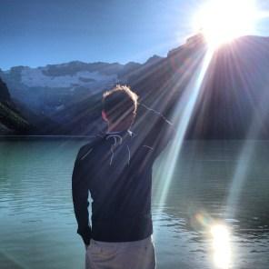 Thinky time at Lake Louise