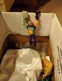 Ook Dr. X probeert wanhopig te ontsnappen aan verpakkingsafval!