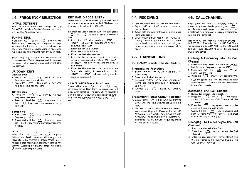 Alinco DJ-560 VHF UHF FM Radio Instruction Manual