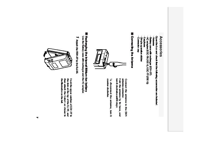 Alinco DJ-X2 VHF UHF FM Radio Instruction Owners Manual