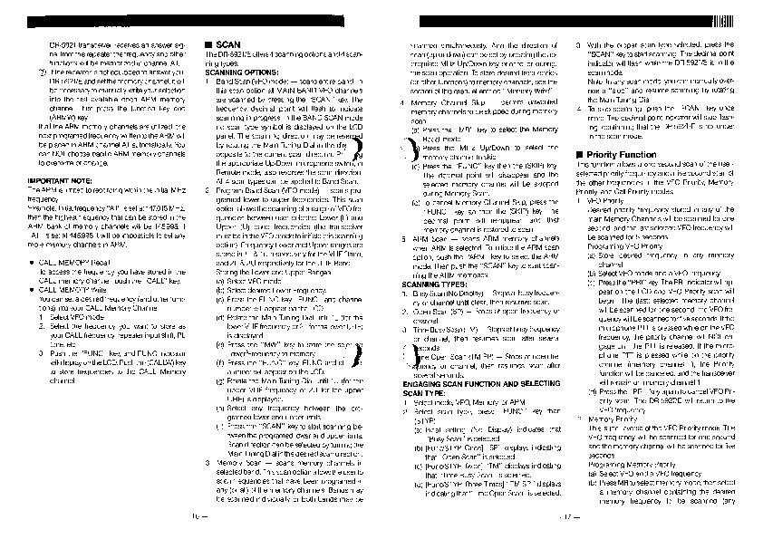 Alinco DR-592 VHF UHF FM Radio Instruction Owners Manual