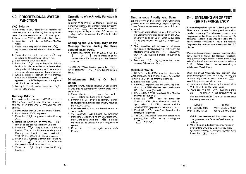 Alinco DJ-560 VHF UHF FM Radio Instruction Manual