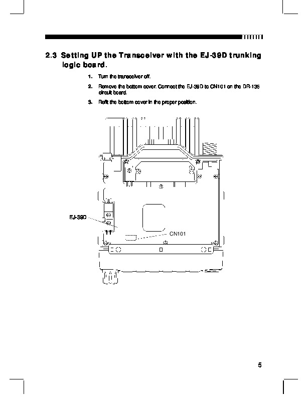 Alinco DR-135 FM Radio Instruction Owners Manual