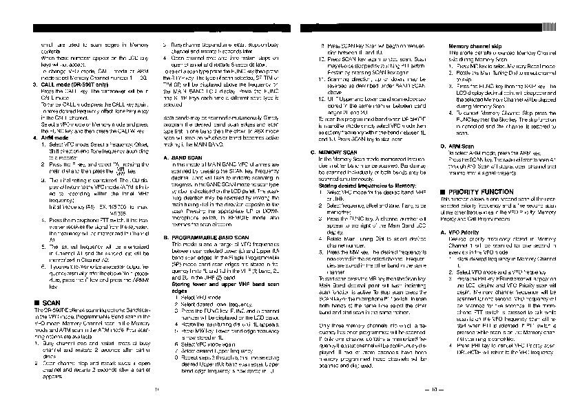 Alinco DR-590 VHF UHF FM Radio Owners Manual