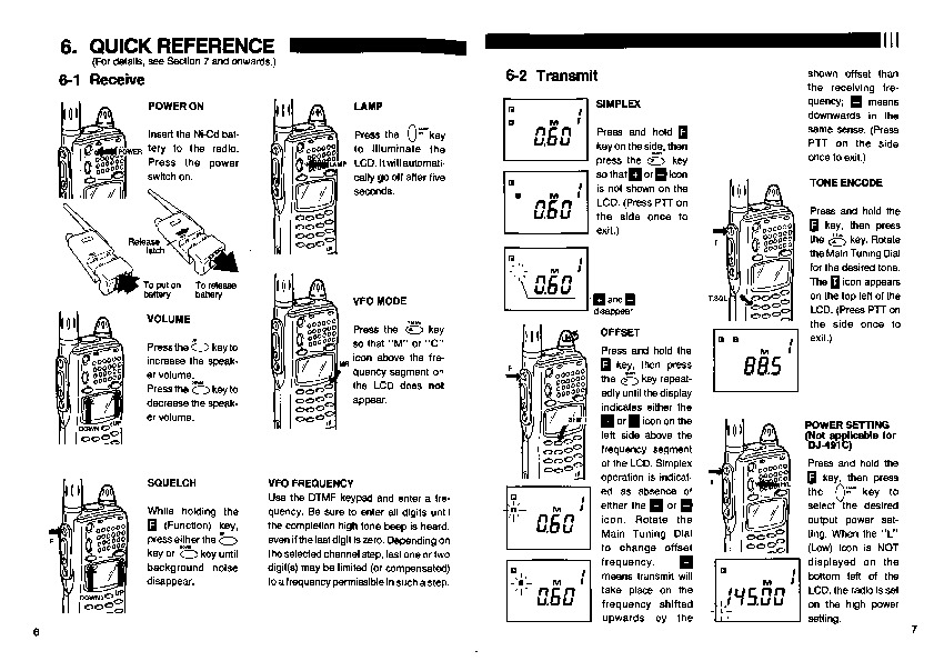 Alinco DJ-191 DJ-491 VHF UHF FM Radio Owners Manual