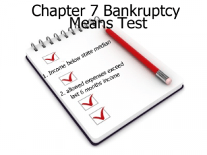 Chapter 7 Bankruptcy Means Test