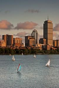 Golden Sunset over Boston