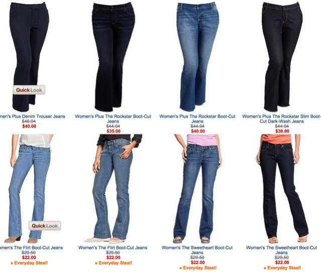 On The Old Navy Website Womens Plus Size Bootcut Jeans Range From 30 To