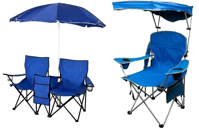 folding chair aldi barrel chairs swivel portable with umbrella, table and cooler only $39.95 shipped!