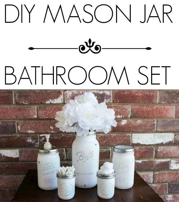 Diy Mason Jar Bathroom Set Consumer Queen