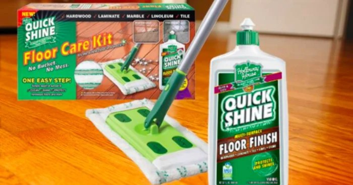 Quick Shine Floor Care Kit Only 499 Reg 1999