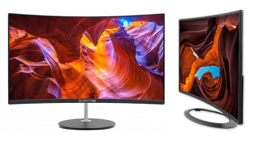 Sceptre Curved 27 75Hz LED monitor HDMI VGA build-in speakers review