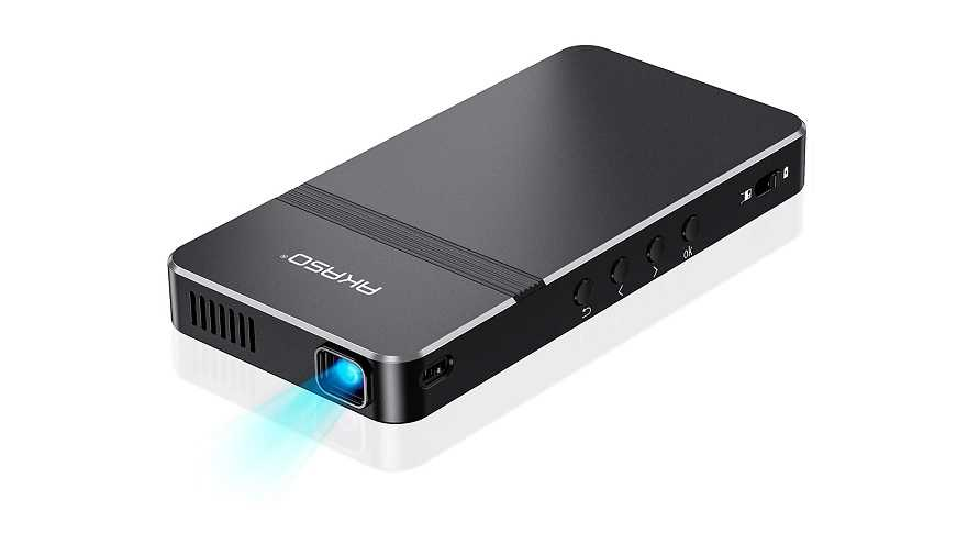 AKASO mini projector pocket-sized DLP portable projector review