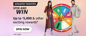 Amazon Fashion Spin And Win Quiz Answers Today