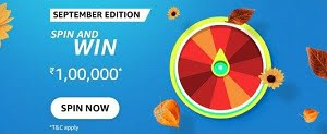 Amazon September Edition Spin And Win Answers Today