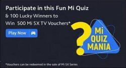 Flipkart Mi Quiz Mania Answers