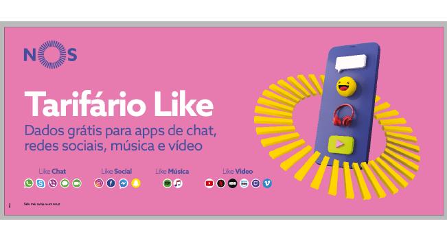 As apps que gostas estão no tarifário Like da NOS
