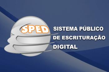 SPED, sistema de escrituração digital.