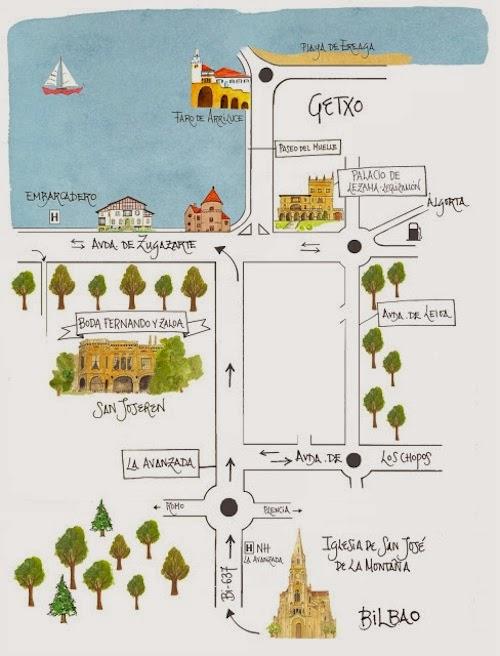 Mapas para una boda