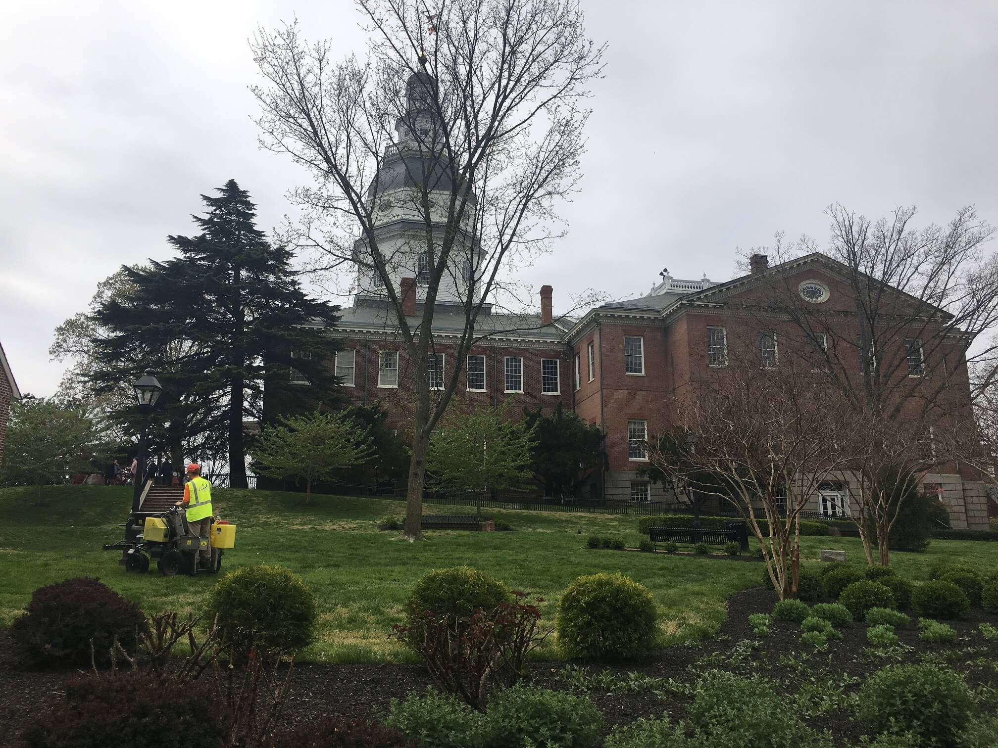 Maryland State House Grounds Natural, Organic Pesticide Application