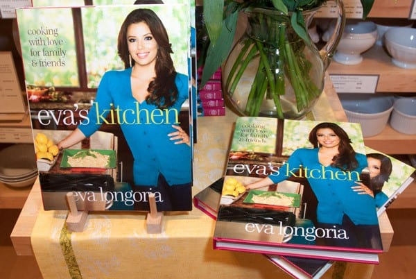 4Actress Eva Longoria greets fans and signs copies of Evas Kitchen Cooking With Love for
