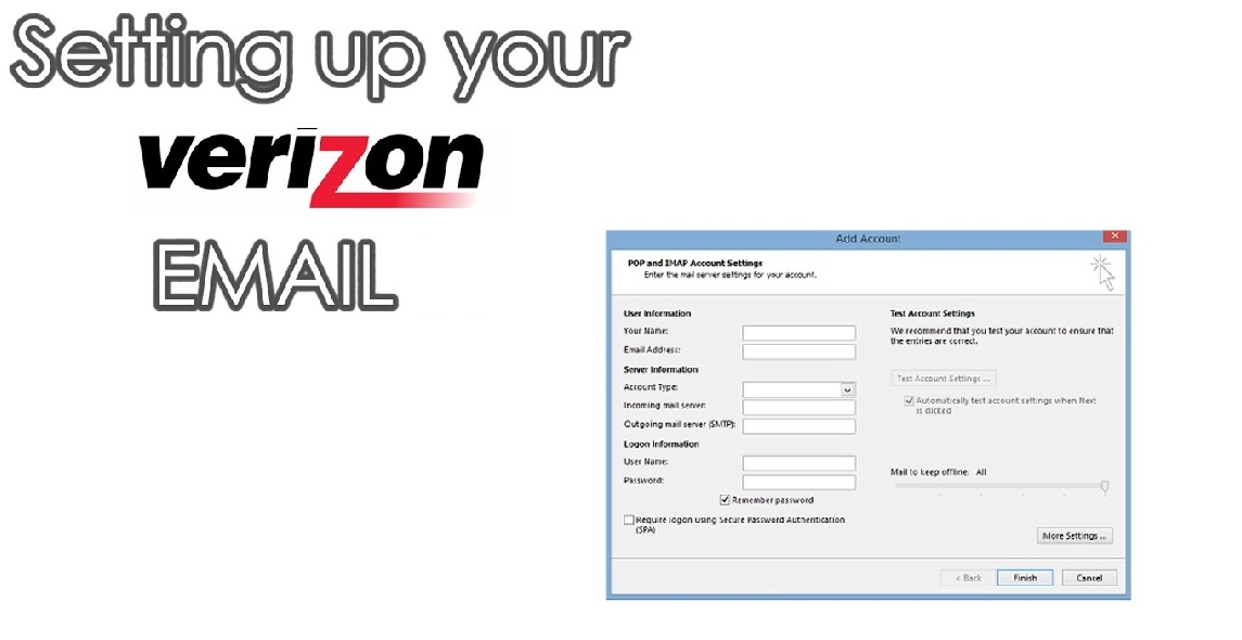 Verizon Email Settings Setup on iPhone, Outlook, and