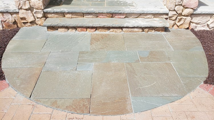 After photo of a bluestone entryway project