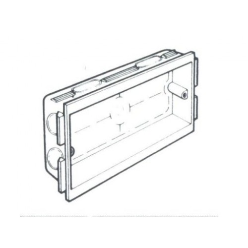 Consort 2 Gang Socket Mounting Box 25mm (CTB12W)