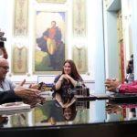 Maduro se reúne con Rodríguez Zapatero en espera de resultados del diálogo