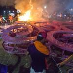 Desconocidos queman un autobús en Managua en medio de protestas, sin heridos