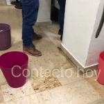 """Vergonzantes y penosas """"goteras"""" despiden y reciben a visitantes en el aeropuerto """"Guadalupe Victoria"""""""