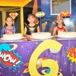 Triple festejo de las hermanitas Castillo Galindo
