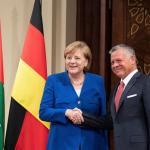 Rey jordano pide a Merkel papel clave de la UE en proceso palestino-israelí