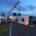 Choque entre un autobús Chihuahuense y un camión carguero con supuestos 10 muertos y 20 lesionaos