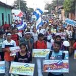 Oficialistas realizan manifestación en apoyo a Ortega en Nicaragua