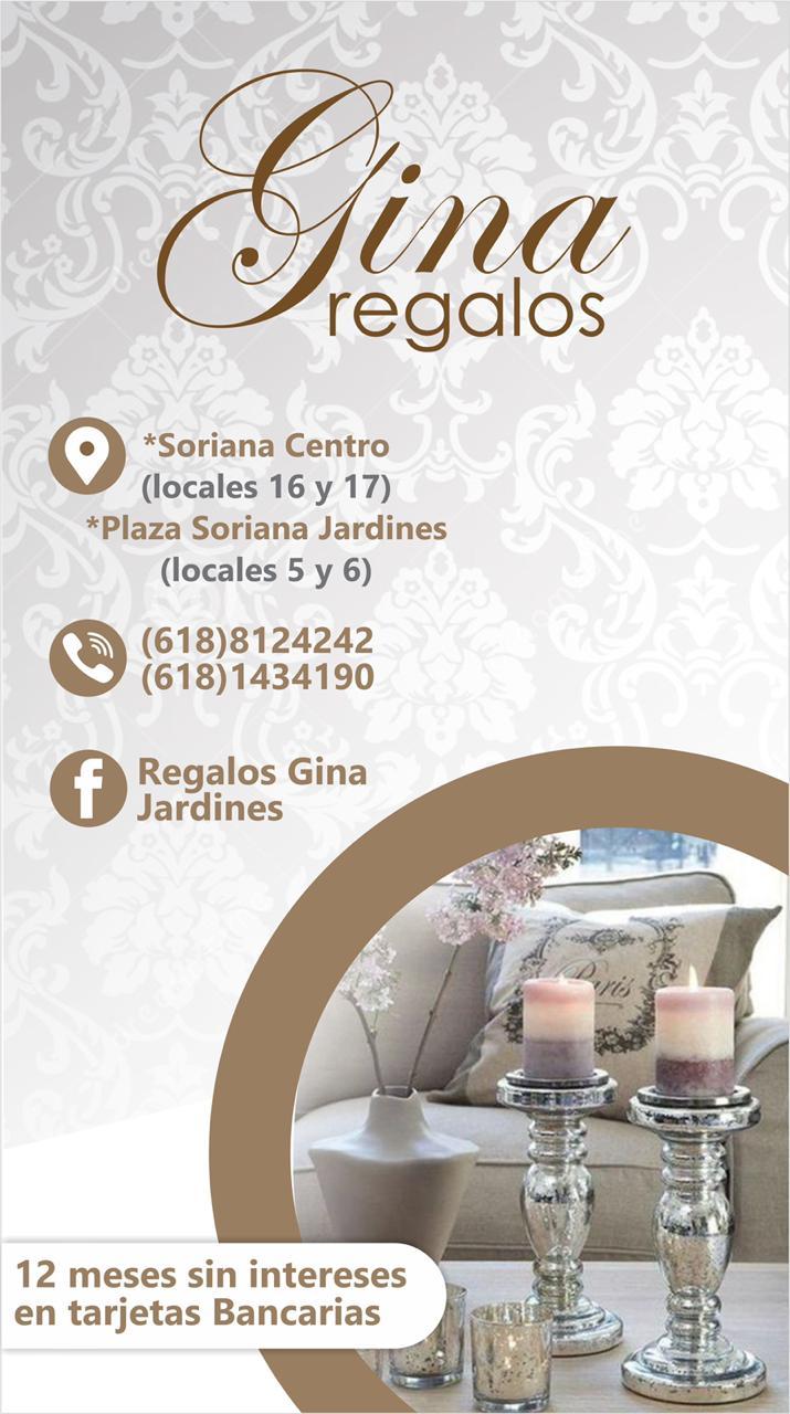 Gina Regalos | Tel. 618 818 1814