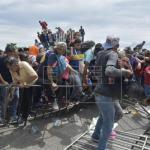 Caravana migrante exige a ONU-DH autobuses para seguir su camino hacia EE.UU