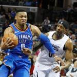 109-104. Westbrook y Thunder superan a los líderes Hornets