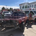 Encontronazo en la colonia Díaz Ordaz; 3 heridos