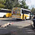 Iba hablando por teléfono el chofer del bus amarillo al momento de atropellar al hombre muerto frente al IMSS