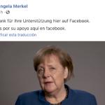 Merkel cierra su cuenta en Facebook con una despedida de sus seguidores