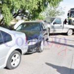 Autobusero de la Alianza provoca carambola entre 6 vehículos frente a las Instalaciones de la Feria y huye