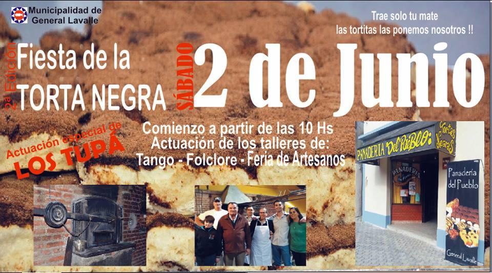 """Segunda Edición de la """"Fiesta de la Torta Negra"""" en General Lavalle."""