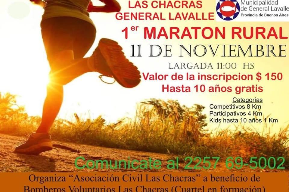 Continúa abierta la inscripción para el 1º Maratón Rural en Las Chacras