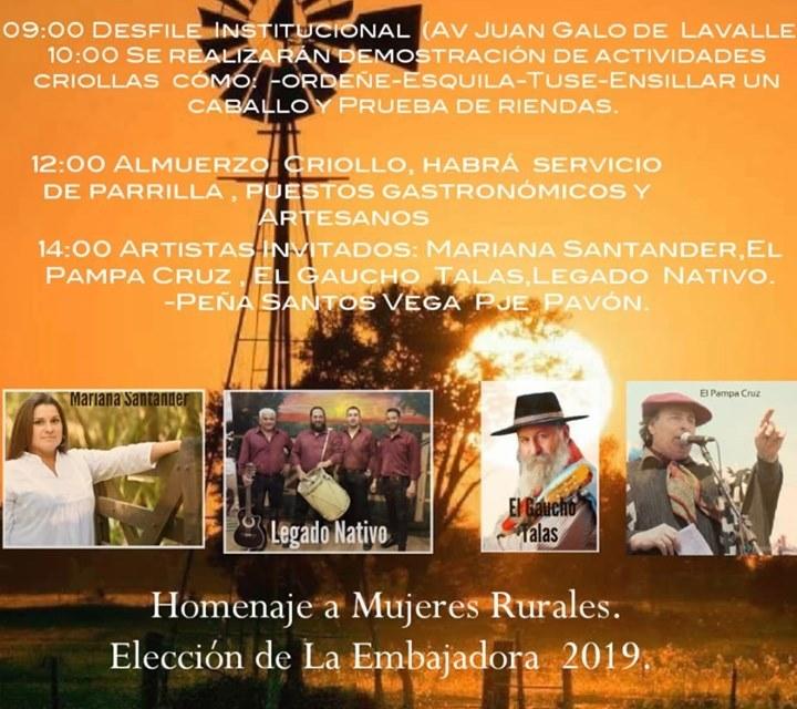 3° edición de la Fiesta de la Mujer Rural en Pavón: Te mostramos el cronograma completo