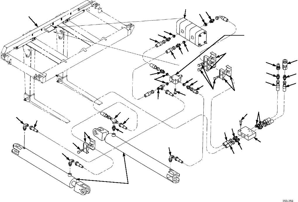 Figure 15. Forklift Kit Hydraulic Hoses and Fittings
