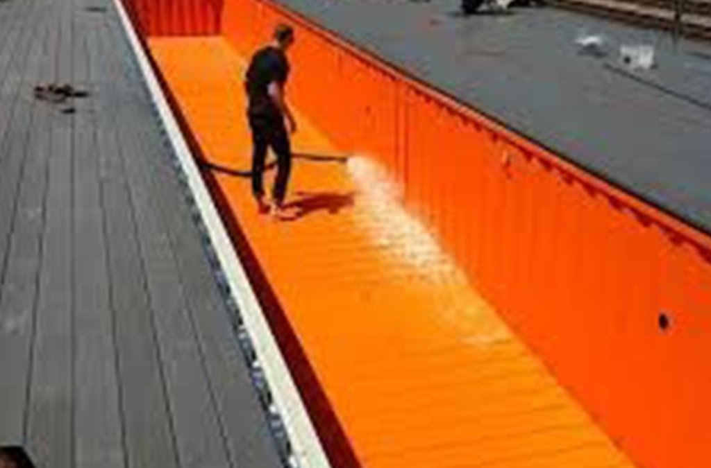 A summer scorcher! Time for a swim in a shipping container?!